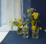 Flowers with a painted window
