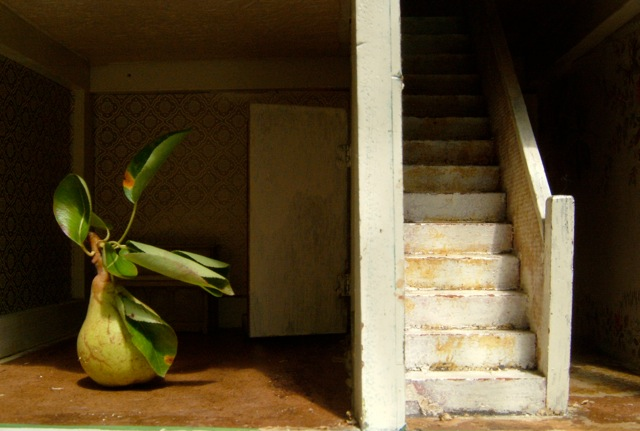 Interior with Staircase and Pear
